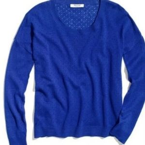 Madewell Blue Pinhole Studio Sweater Size XL